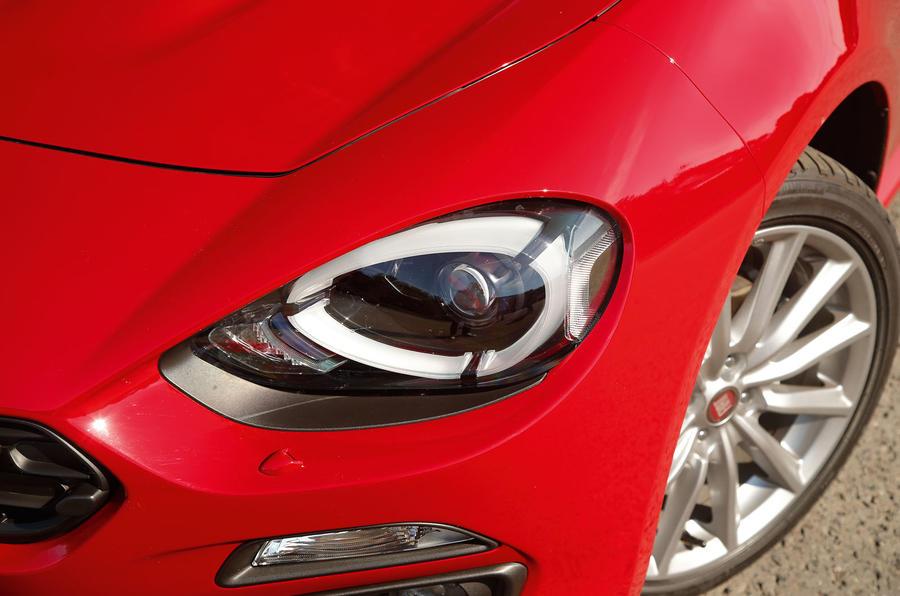 Fiat 124 Spider headlights