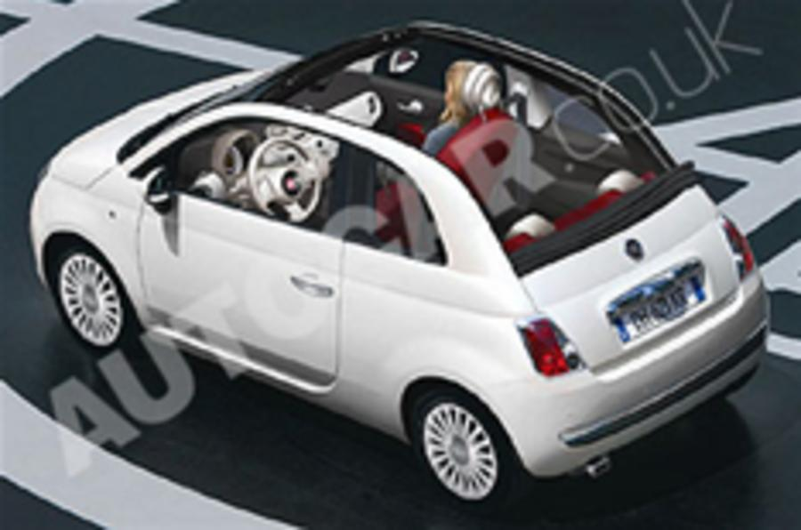fiat 500 cabrio snapped autocar. Black Bedroom Furniture Sets. Home Design Ideas