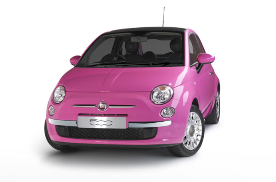 Special edition Fiat 500 - in pink