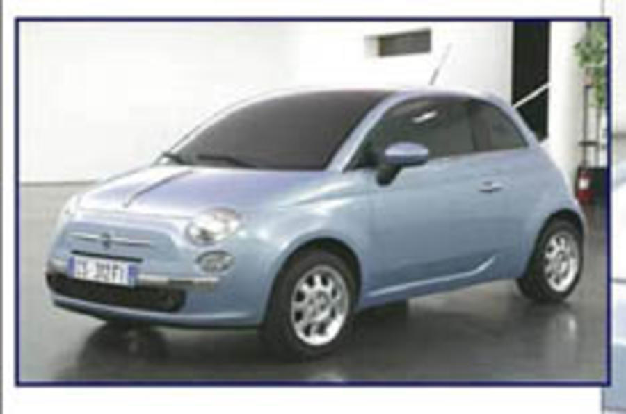 Fiat 500 revealed in internet leak