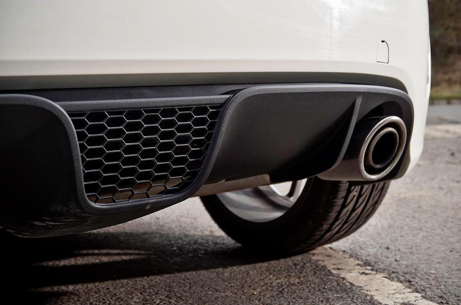 Abarth 595 rear diffuser