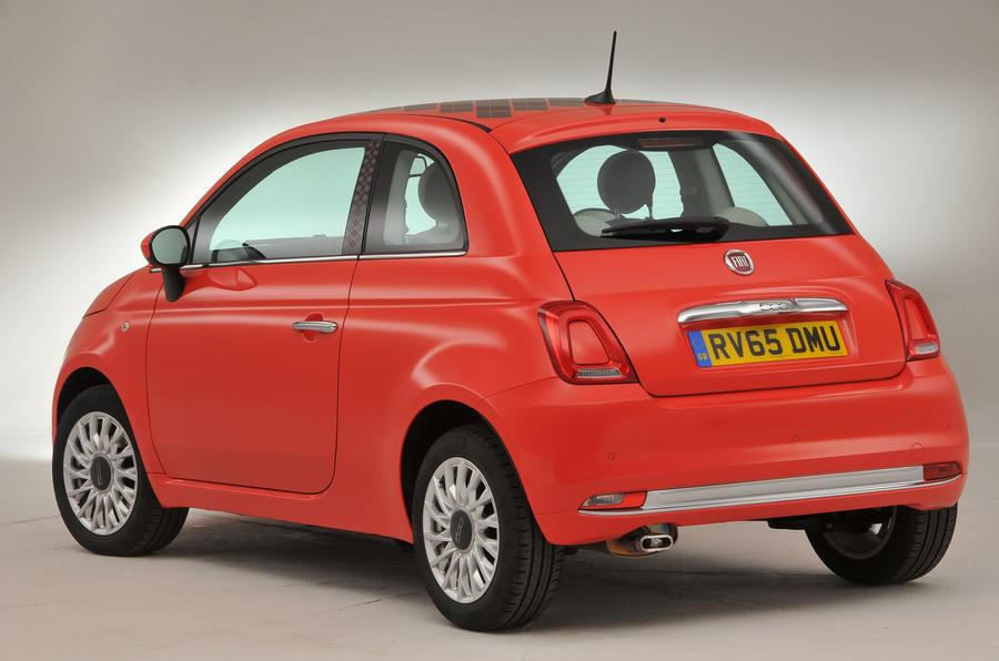 Fiat 500 rear quarter