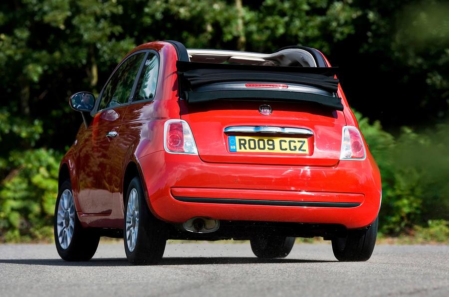 Fiat 500C rear cornering