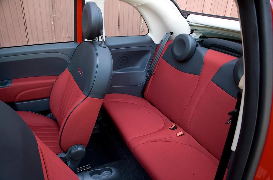 Fiat 500C rear seats