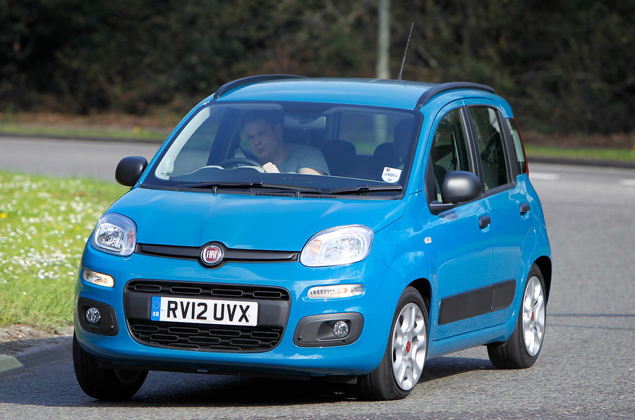 Fiat Panda cornering