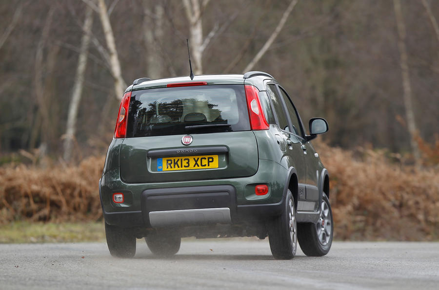 Fiat Panda 4x4 rear cornering