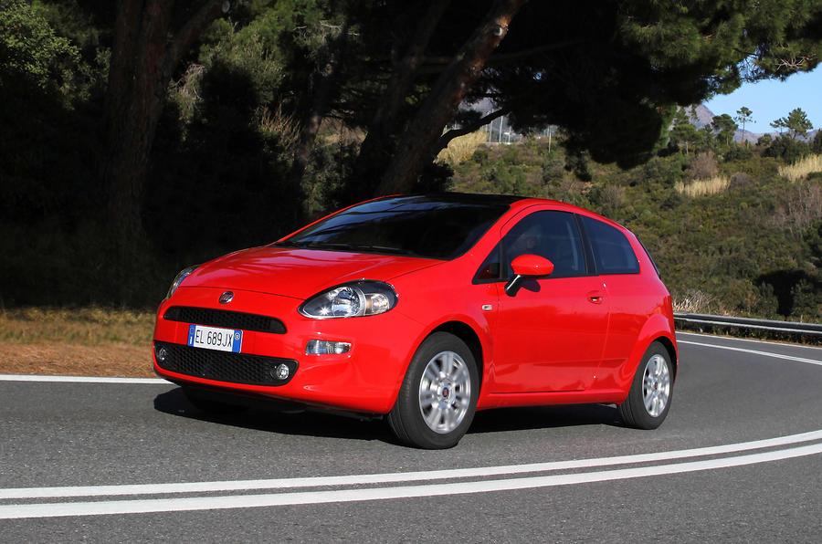 Fiat Punto cornering