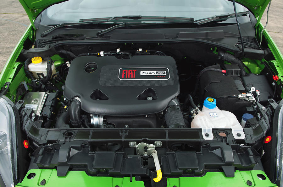 Two-cylinder Fiat Punto engine
