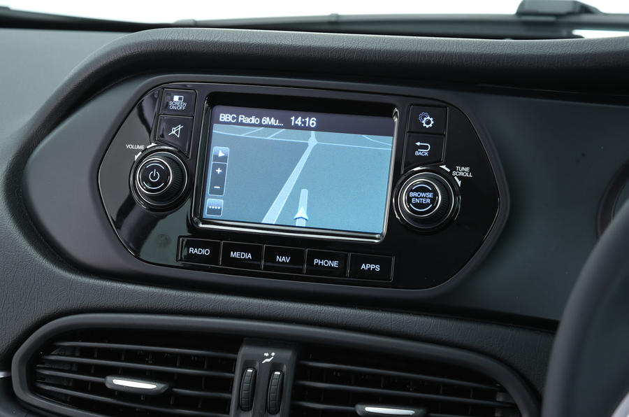 Fiat Tipo Uconnect infotainment system