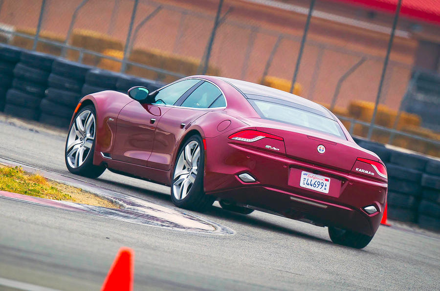 Fisker Karma rear cornering