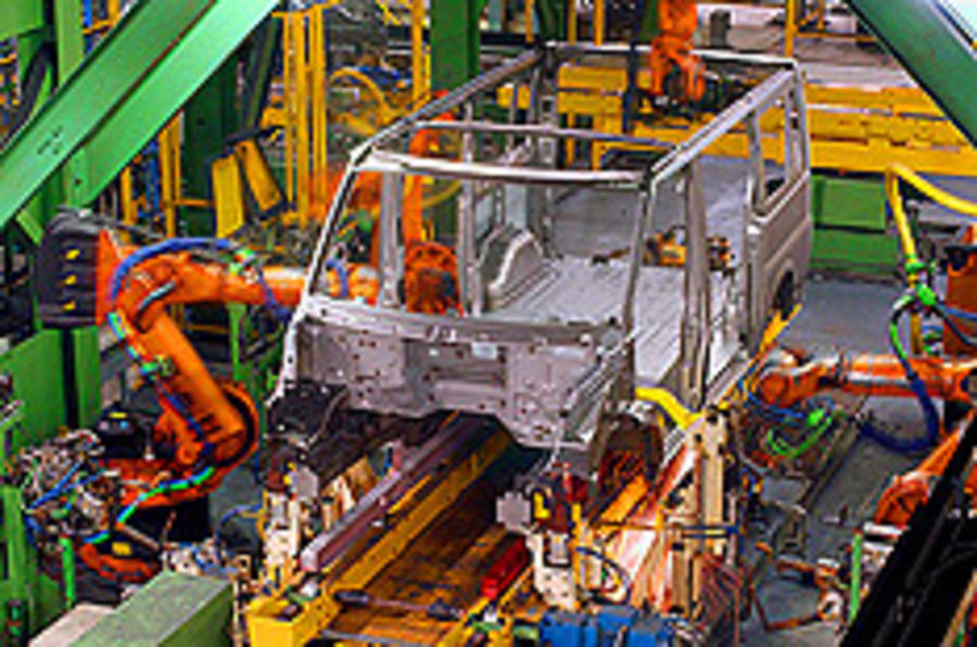 Ford Transit production halved