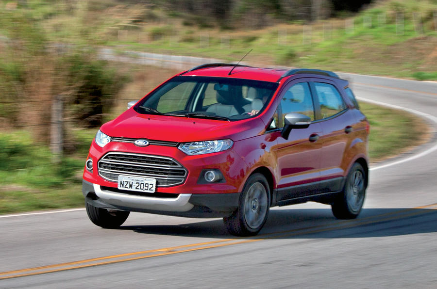 Ford Ecosport hard cornering