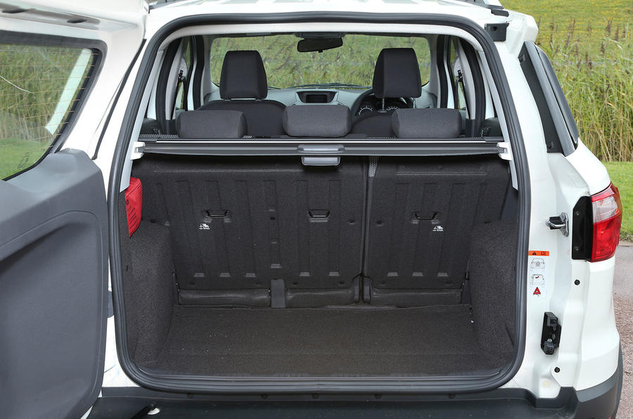 The wide, tall opening to the Ford EcoSport's boot