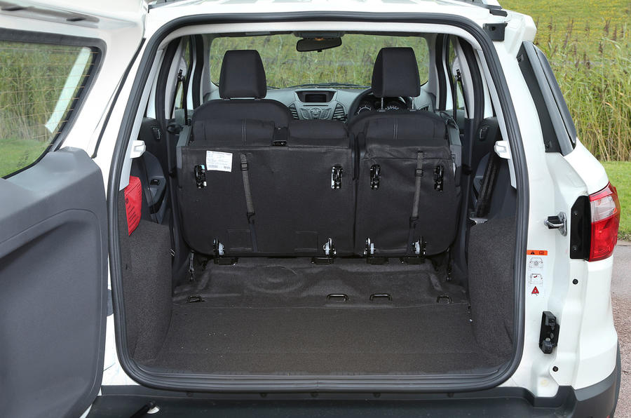 With the seats down the Ford EcoSport has 1238-litres of space on offer