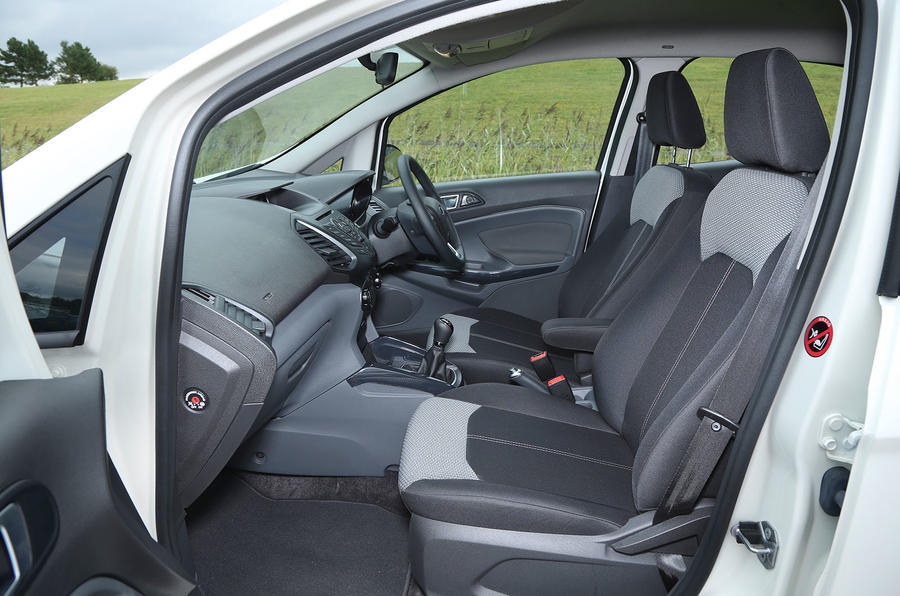 Inside the cabin of the Ford EcoSport