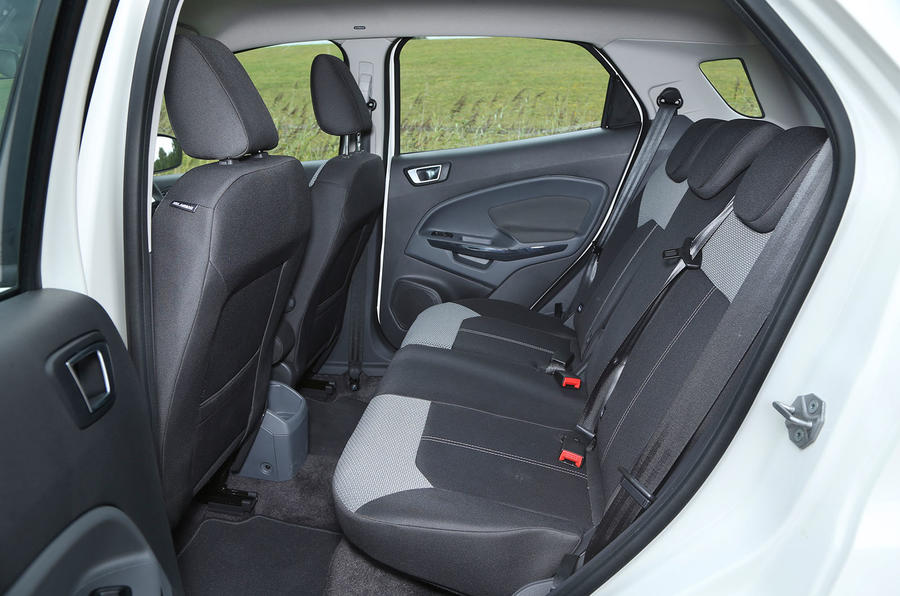 The rear seats in the Ford EcoSport