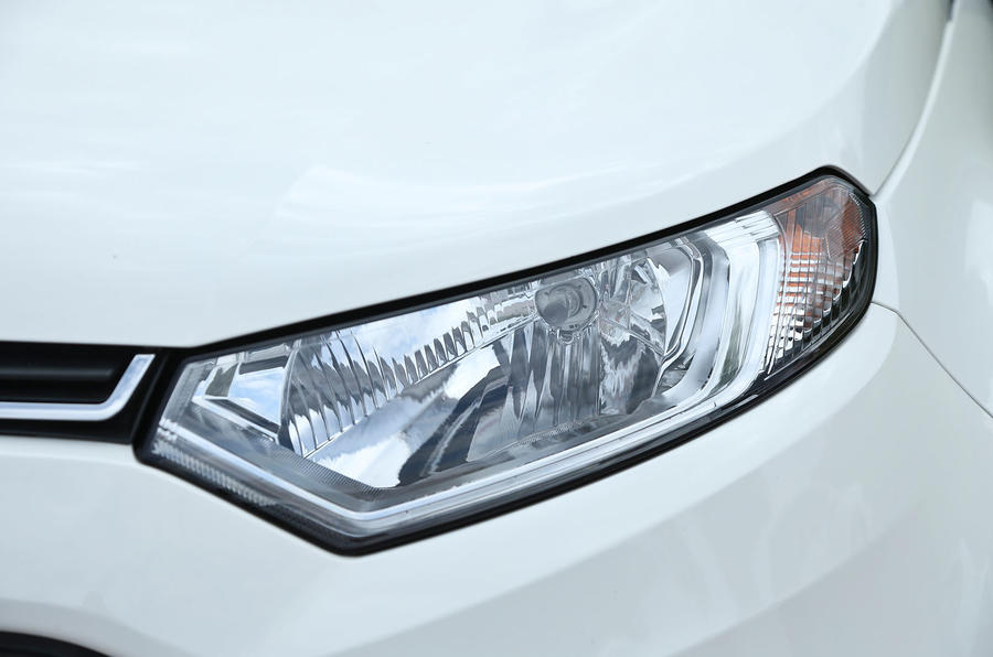The Ford EcoSport comes with LED day running lights