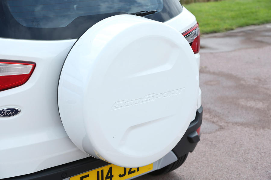 The Ford EcoSport has its spare wheel adorned on the exterior