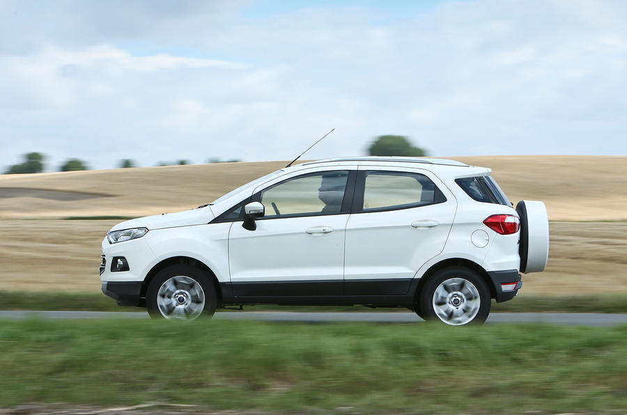 The Ford EcoSport's ride is rough and thumpy