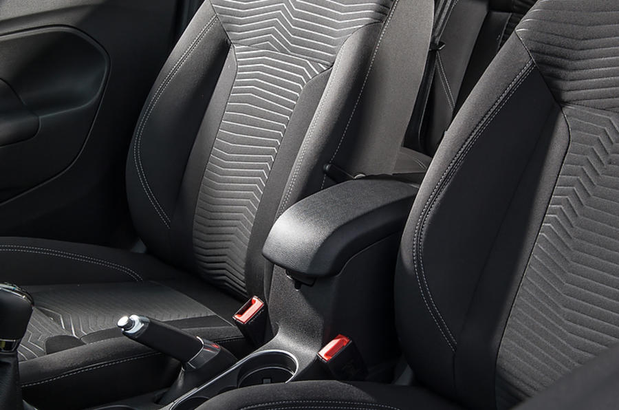 Black Red Leather Car Seat Covers For Ford Fiesta 5DR Hatchback 2017 On