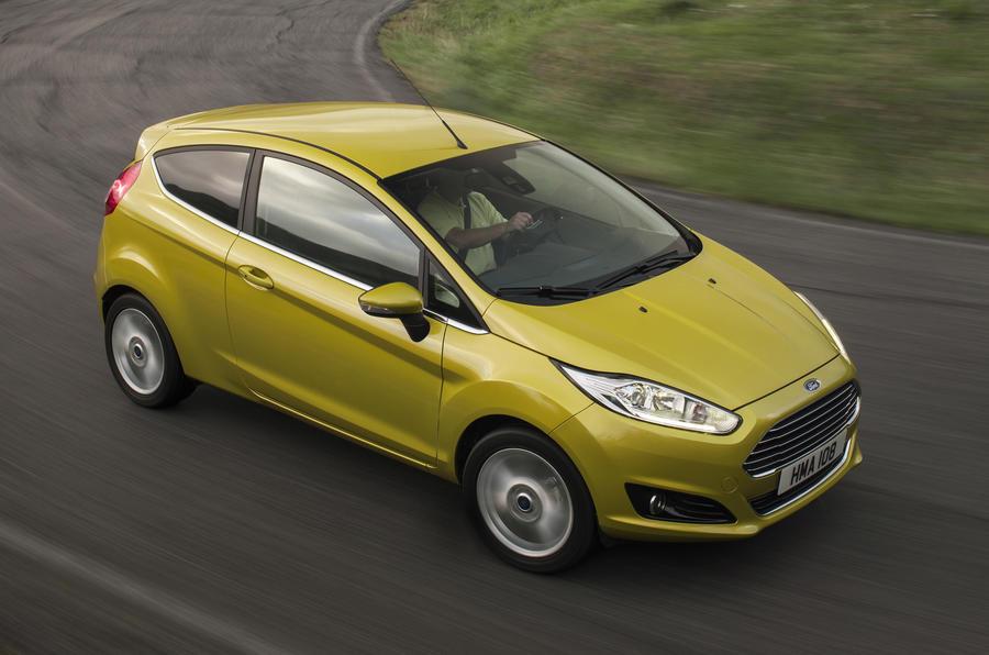 Ford Fiesta cornering