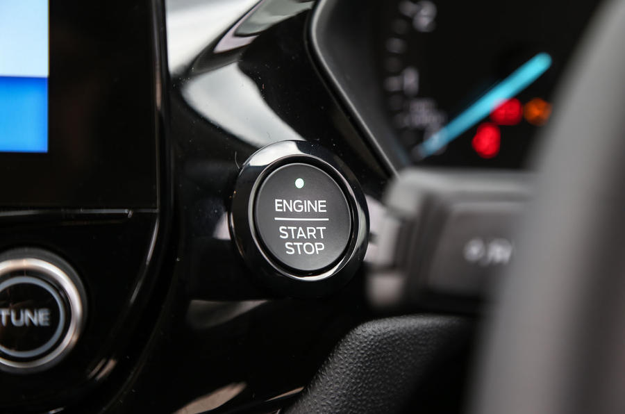 Ford Fiesta ignition button