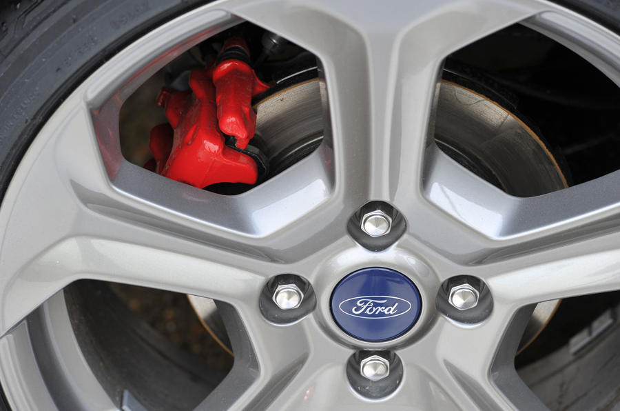 Ford Fiesta ST red brake calipers