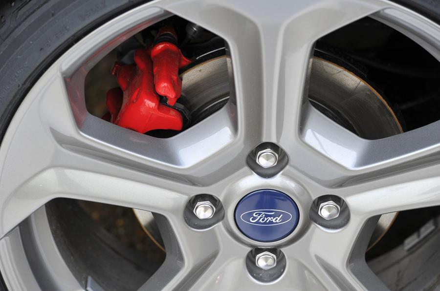 Ford Fiesta ST red brake calipers