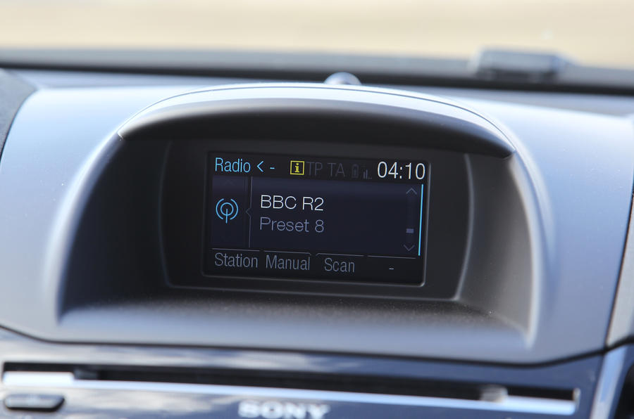 Ford Fiesta ST infotainment screen