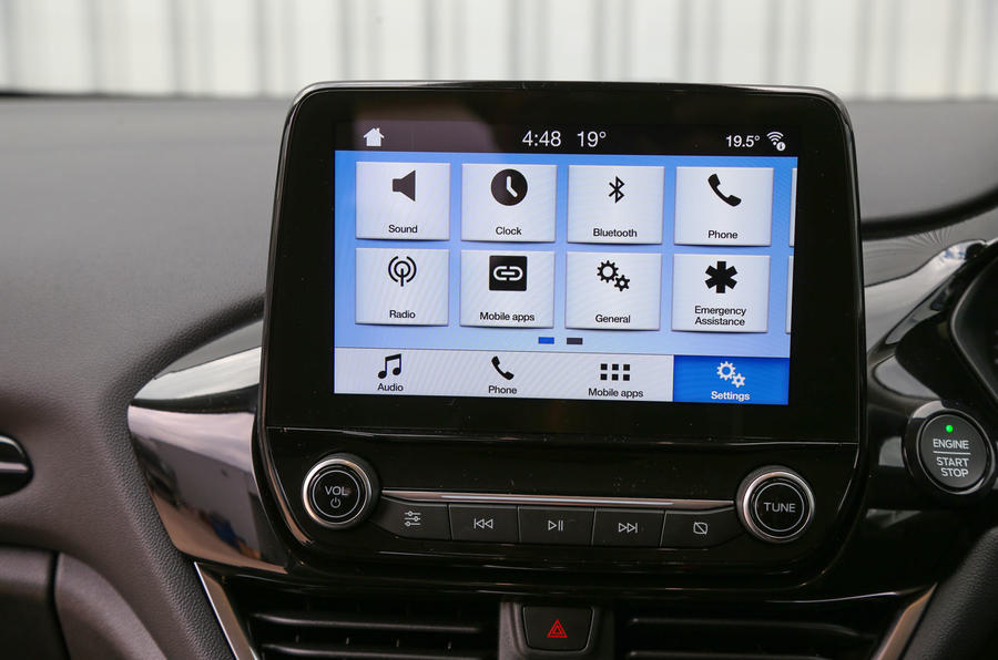 Ford Fiesta Sync3 infotainment system