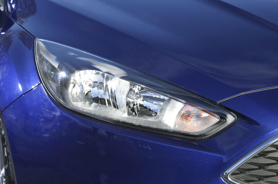 Narrower headlights are part of the Ford Focus's design language but LED day running lights are an optional extra