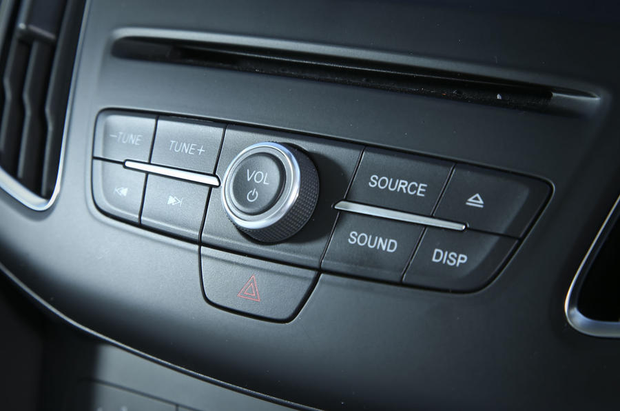 Infotainment controls in the Ford Focus
