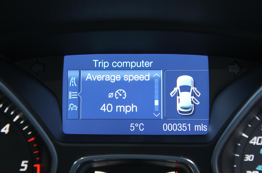 Ford Kuga information screen