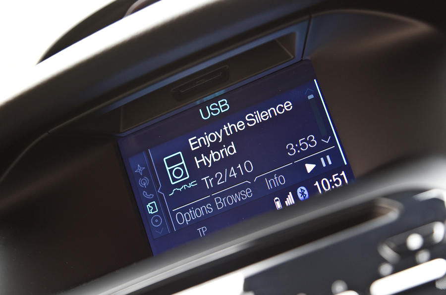 Ford Focus ST infotainment screen