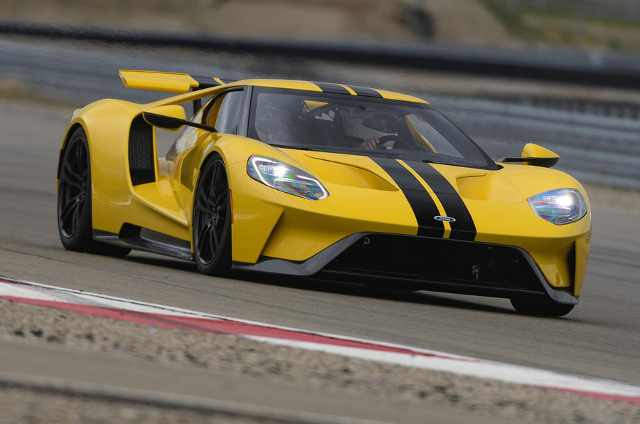 Ford GT hard cornering