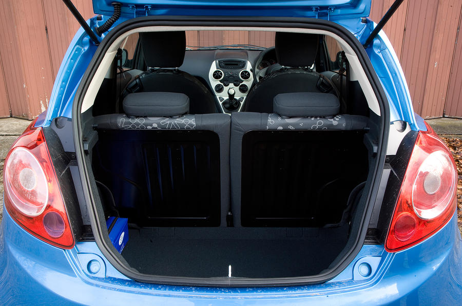 Ford Ka The  Split Fold Rear Seat Increases Boot Space With The Seats Upright Space Is On Par With Rivals