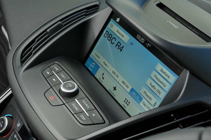 Ford Kuga Sync3 infotainment system