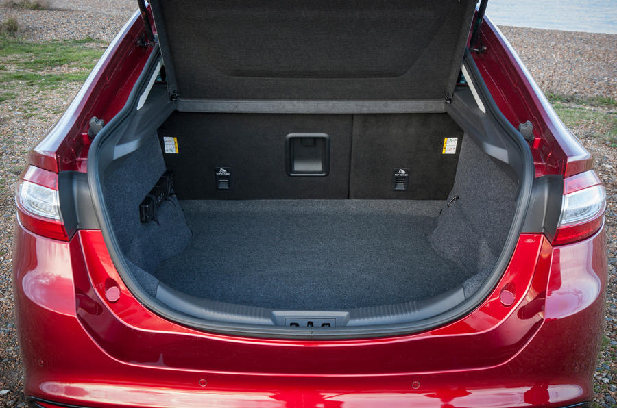 The Ford Mondeo's boot