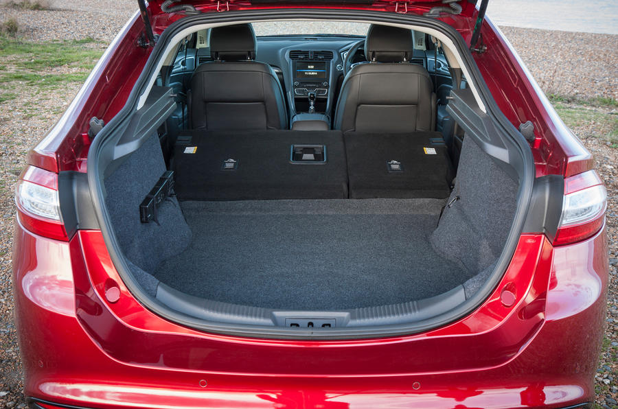 The rear seats fold down in the Mondeo