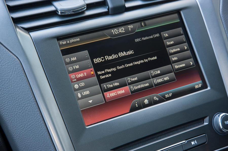 DAB radio in the Ford Mondeo