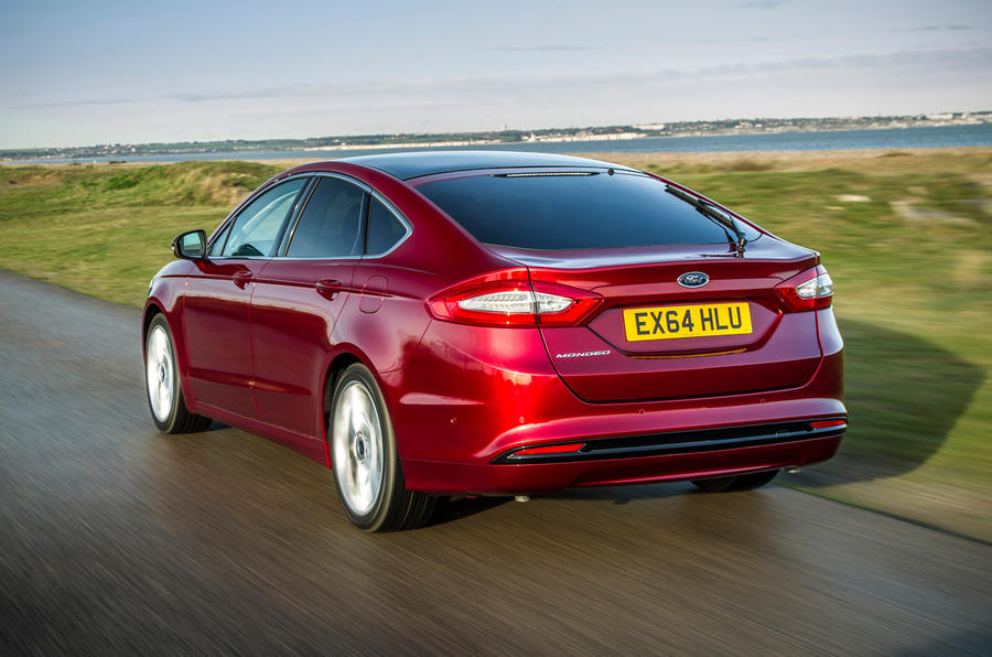 The Ford Mondeo's rear