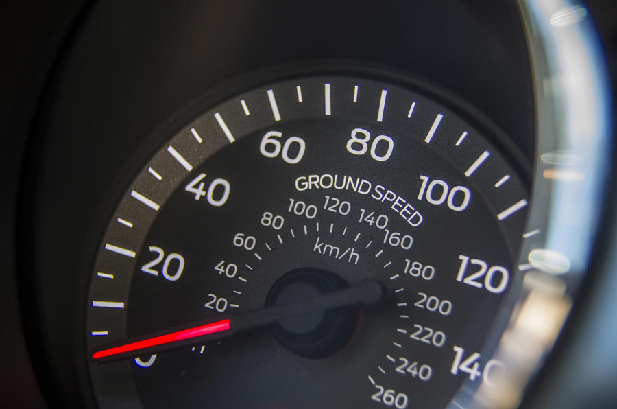 Ford Mustang speed counter