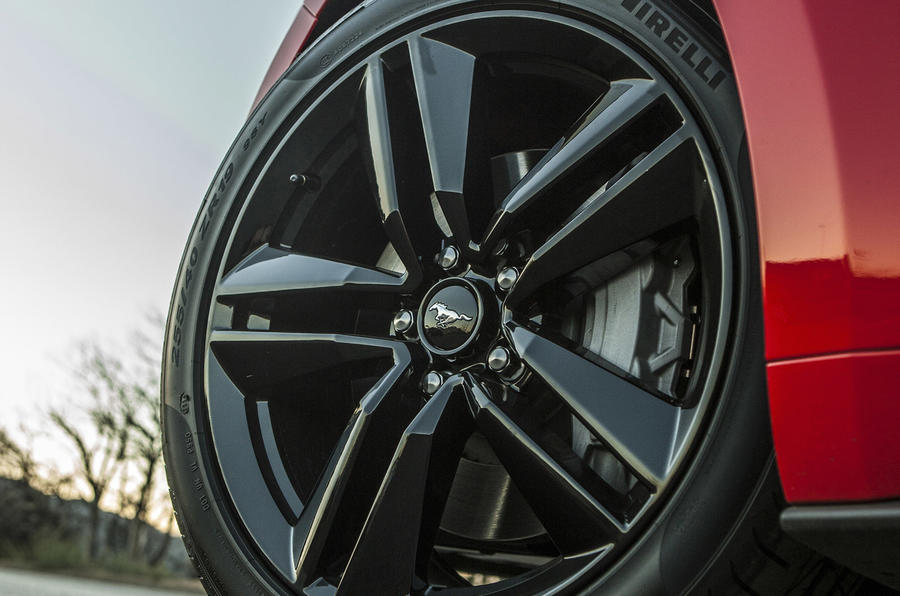 17in Ford Mustang black alloys