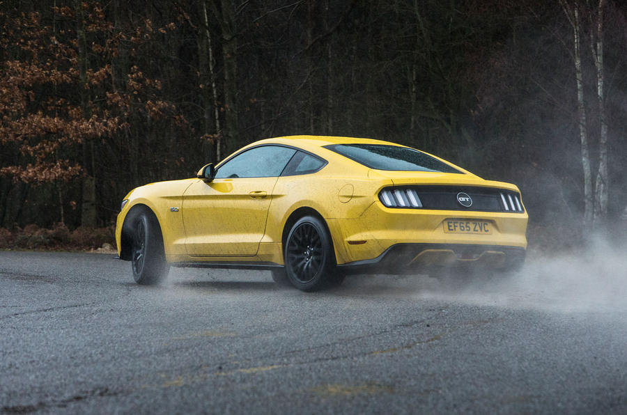 Ford Mustang rear hard cornering