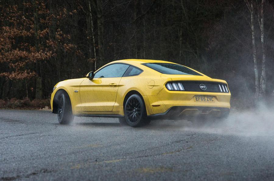 Ford Mustang rear hard cornering
