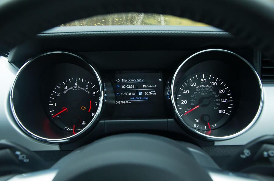 Ford Mustang instrument cluster