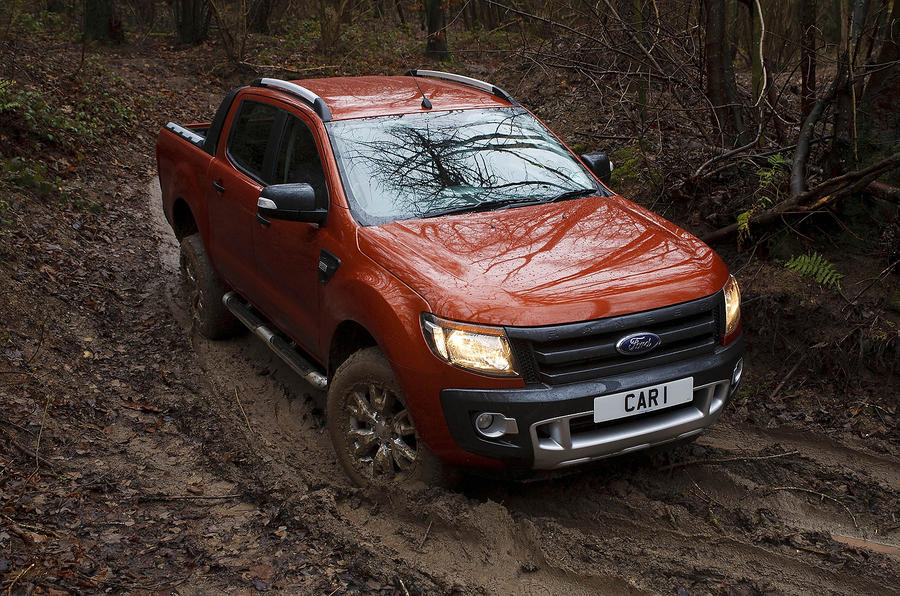 Ford Ranger off-roading