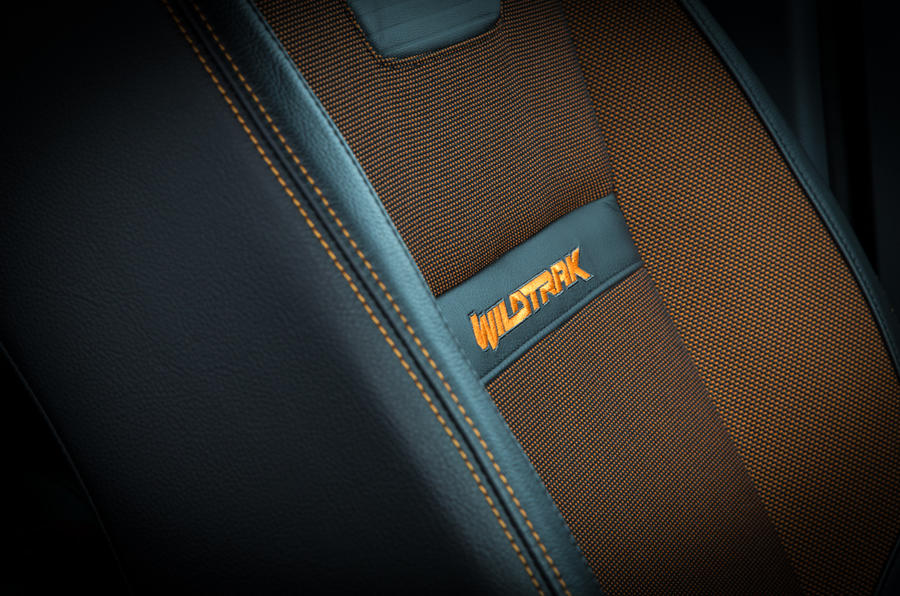 Ford Ranger Wildtrak interior stitching