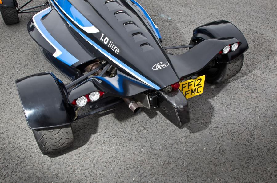 Rear of the Formula Ford