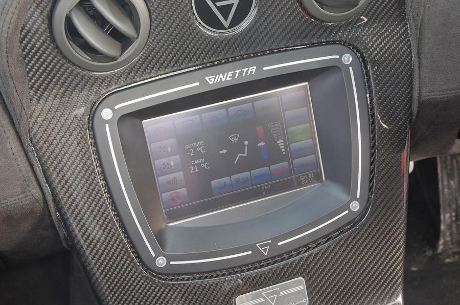 Ginetta G60 touchscreen infotainment
